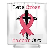 Breast Cancer Awareness Art Christian Women Light Shower Curtain