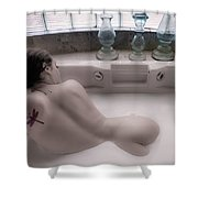 Brennan Hill Tub 1 Shower Curtain