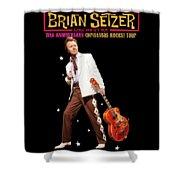 Brian Setzer Christmas Rock 15th 2018 Ajadcode11 Shower Curtain