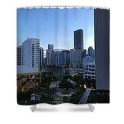 Brickell Key Miami Florida Shower Curtain