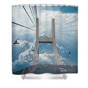 Bridge In The Clouds Shower Curtain