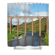 bridge over river Tweed near Melrose towards Gattonside Shower Curtain