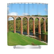 bridge over river Tweed near Melrose Shower Curtain
