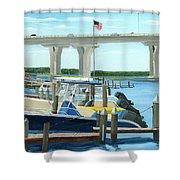 Bridge To Summer II Shower Curtain