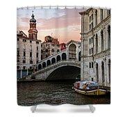 Bridges Of Venice - Rialto Shower Curtain
