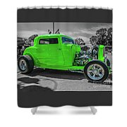 Bright Green Ford Shower Curtain