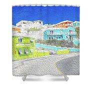 Bright Parish Life Bermuda Shower Curtain