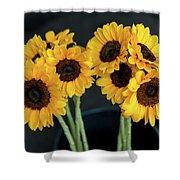 Bright Yellow Sunflowers Shower Curtain