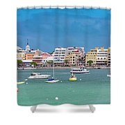 Brilliant Bermuda  Cityscape Shower Curtain