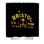 Bristol Sign And The Moon Shower Curtain
