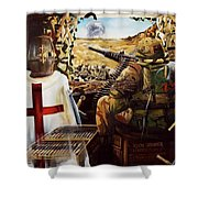 British Crusader Shower Curtain
