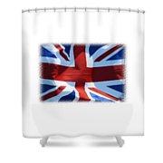 British Union Jack Flag T-shirt Shower Curtain