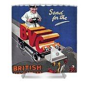 British Vacuum Cleaner Vintage Advert 1910 Shower Curtain