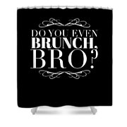 Bro Do You Even Brunch Shower Curtain