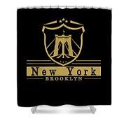 Brooklyn New York Bridge Pride Icon Shower Curtain