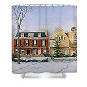 Broom Street Snow Shower Curtain