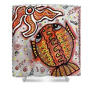 Brother Fish And Sister Starfish In Deep Conversation Shower Curtain