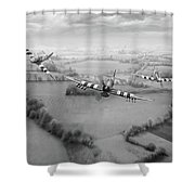 Brothers In Arms Bw Version Shower Curtain