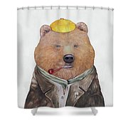 Brown Bear Shower Curtain by Animal Crew