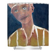 Brown Hat Man Shower Curtain
