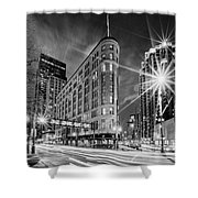 Brown Palace Traffic Shower Curtain