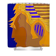 Brushed Shower Curtain