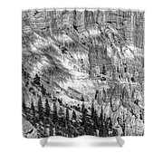 Bryce Canyon National Park Bw Shower Curtain