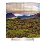 Buachaille Etive Mor From Rannoch Moor - Scotland - Landscape Shower Curtain by Jason Politte
