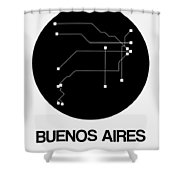 Buenos Aires Black Subway Map Shower Curtain