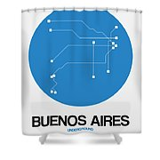 Buenos Aires Blue Subway Map Shower Curtain