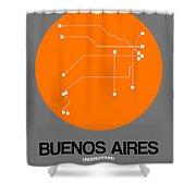 Buenos Aires Orange Subway Map Shower Curtain