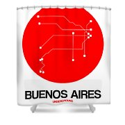 Buenos Aires Red Subway Map Shower Curtain