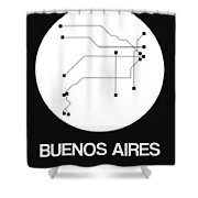 Buenos Aires White Subway Map Shower Curtain