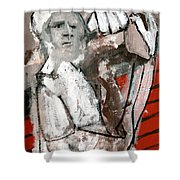Builder Carrying Wood Shower Curtain