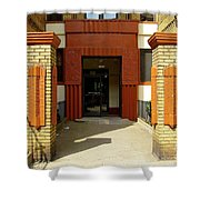 Building Entrance In Brooklyn, New York Shower Curtain