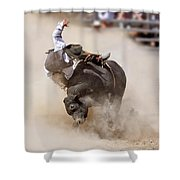 Bull Riding Shower Curtain