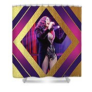 Burlesque Cher Diamond Shower Curtain