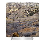 Burning Coal Vein April Reverie Shower Curtain