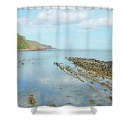 Burnmouth Shore, Cliffs And North Sea Shower Curtain