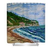 Burnout Beach, Redondo Beach California Shower Curtain