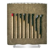 Burnt Matches Shower Curtain