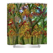 Bursting With Color Shower Curtain