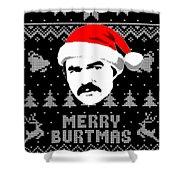 Burt Reynolds Christmas Shirt Shower Curtain