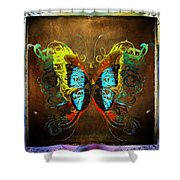 Butterfly Abstract Shower Curtain