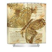 Butterfly Antiquities Shower Curtain
