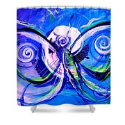 Butterfly Blue Violet Shower Curtain