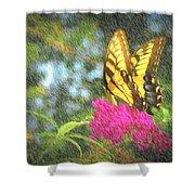 Butterfly Likeness  Shower Curtain