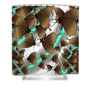 Butterfly Patterns 2 Shower Curtain