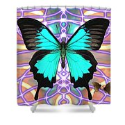 Butterfly Patterns 20 Shower Curtain