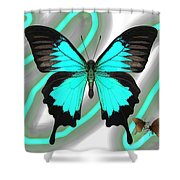 Butterfly Patterns 23 Shower Curtain